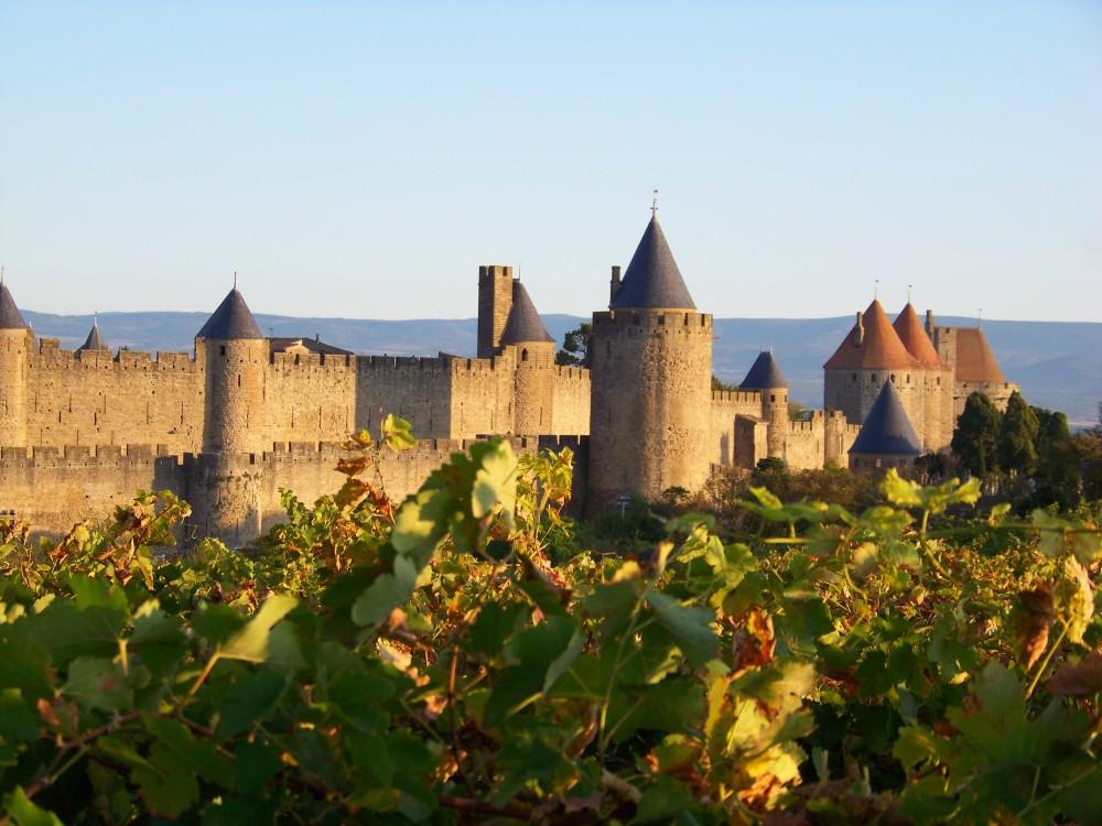 Cité de Carcassonne - Vue de la face sud